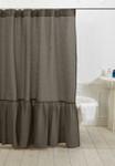 Amity Home Caprice Linen Shower Curtain - Walnut Brown