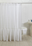 Amity Home Caprice Linen Shower Curtain - White