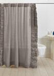 Amity Home Basillo Linen Shower Curtain - Grey Chambray