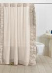 Amity Home Basillo Linen Shower Curtain - Ivory