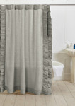 Amity Home Basillo Linen Shower Curtain - Seaglass