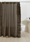 Amity Home Basillo Linen Shower Curtain - Walnut Brown