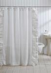 Amity Home Basillo Linen Shower Curtain - White