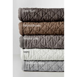 Amity Home Dale Linen Quilt - Walnut Brown