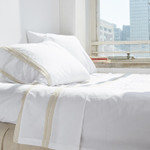 Amity Home Bella Banded Sheet Set - Dale Cream