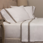 Amity Home Bella Banded Sheet Set - Dale Grey