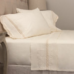 Amity Home Classic Crochet Sheet Set - Ivory