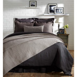 Amity Home Liam Duvet Cover - Charcoal Blue