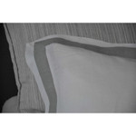 Amity Home Orfeo Linen Duvet Cover - White/Grey