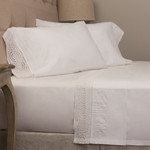 Amity Home Cutwork Sheet Set - White