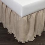 Amity Home Paz Crochet Linen Bed Skirt - Natural