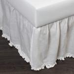 Amity Home Paz Crochet Linen Bed Skirt - White
