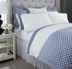 DownTown Company Dot Sheet Set - White/Denim Blue