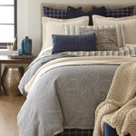 Amity Home Ada Jacquard Pillow Sham - Indigo