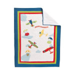 Amity Home Fly Away White Baby Quilt