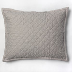 Amity Home Dale Linen Dutch Euro Pillow - Platinum Grey