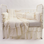 Amity Home Caprice Linen Toddler Quilt - Ivory