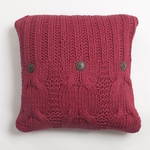 Amity Home Micah Cable Knit Pillow - Red