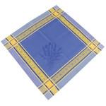 Jacquard Weave Cotton Napkin - Senanque Blue