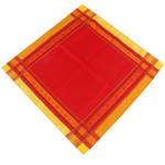 Jacquard Weave Cotton Napkin - Senanque Red