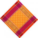 Jacquard Weave Cotton Napkin - Prodige Orange