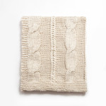 Amity Home Raj Cable Knit Throw - Cloud Cream