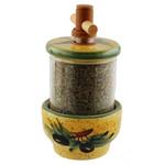 Provence Ceramic Herb Grinder - Olives