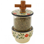Provence Ceramic Herb Grinder - Traditional Floral