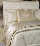 Ann Gish Dupione Big Diamond Quilted Coverlet - Cream