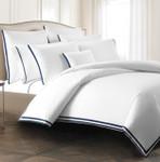 Kassatex Torino Pillowcases  - Navy (Set of 2)