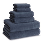 Kassatex Kyoto Cotton-Bamboo Towels - Ink (Set of 2)