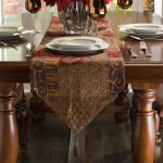 "Croscill Galleria Red Table Runner - 14""x108"""