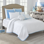 Nostalgia Home Seastar White/Blue Quilt