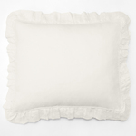 Amity Home Basillo linen Dutch Euro Pillow - Ivory