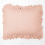 Amity Home Basillo linen Dutch Euro Pillow - Petal Pink