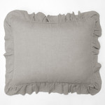 Amity Home Basillo linen Dutch Euro Pillow - Platinum Grey