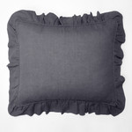 Amity Home Basillo linen Dutch Euro Pillow - Steel Blue