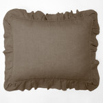 Amity Home Basillo linen Dutch Euro Pillow - Walnut Brown