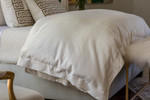 Lili Alessandra Laurie Duvet Cover - Ivory Basketweave