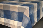 Jacquard Weave French Tablecloths - Sea Shell