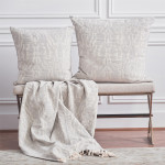 Elisabeth York Noelle Throw - Pearl Grey