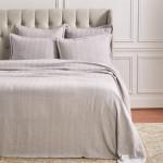 Elisabeth York Torin Blanket - Pearl Grey