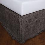 Amity Home Trawick Linen Bedskirt - Charcoal