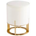 Cyan Design Opal Throne Ottoman - Cream