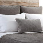 Pom Pom at Home Brussels Pewter Euro Sham