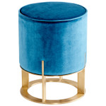Cyan Design Donatello Ottoman - Blue