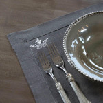 Crown Linen Placemat Set - Gray Linen