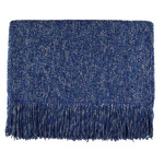 Kenebunk Home Melange Throws - Steel Blue
