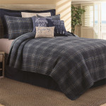 C&F Anthony Navy Quilt Set