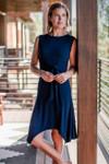 Bamboo Dreams Cecilia Tie Waist Dress - Navy